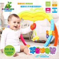 Wholesale Spring baby Apple gym baby toy rattles children fitness of men and women years old newborn toys