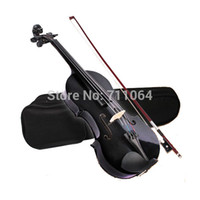 Wholesale ACOUSTIC Violin CASE BOW ROSIN WHOLE VIOLIN SET Black