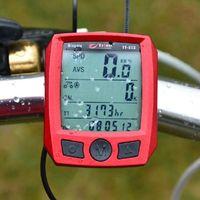 Wholesale 2016 Cycling Cycle Computer Odometer Speedometer Bike Bicycle Waterproof Red