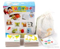 animal alphabet cards - Preschool recognize letters Figure animal cognition card Children s educational toys puzzles alphabet puzzles intellectual developme