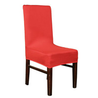 Wholesale Hot Sale Colours Cotton Elastic Chair Seat Cover Dining Table Chair Cover Office Computer Strechstuhlhussen Nice Stoelen Hoes