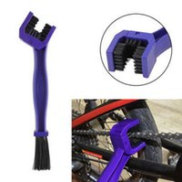 Wholesale 5x Red Purple blue Gear and Chain Cleaning Grunge Brush Cleaner Tool for Motorcycle Cycling Bikes Crankset tooth wheel Cleaning Brush Tool