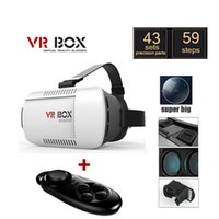 Wholesale 2016 Google Cardboard VR BOX Pro Version VR Virtual Reality D Glasses Smart Bluetooth Wireless Mouse Remote Control Gamepad
