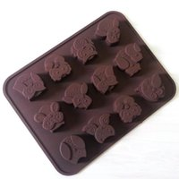 Wholesale Silicone Owl Cake Decorating Candy Cookies Chocolate Soap Baking Molds E00322 CAD