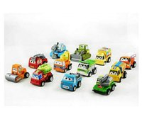 baby car race - Pixar Car Toys Set Pull Back Car Toy Children Racing Baby Mini Cars Cartoon back of the car educational toys