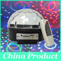 Wholesale 25W Crystal Magic Ball Led Stage Lamp Modes Disco Laser Light Party Lights Sound Control Christmas Laser Projector XL