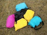 Wholesale DHL Fedex Fast Inflatable Lounger Air Sofa Camping Sofa Banana Sleeping Bag Beach Nylon Fabric Sleeping Bag Bed Lazy Bag outdoor Laybag