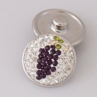 bd sales - Hot sale KB2413 BD Beauty grape Manual rhinestone MM snap buttons for DIY ginger snap bracelets Accessories charm jewelry