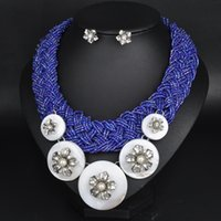 Cheap G046 new arrived high quality necklaces & pendants costume brand glass Unique Europe flower choker chunky Necklace statement jewelry women