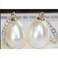 australian studs - 2015 new a pair of natural MM Australian south seas white pearl earrings