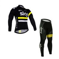 Wholesale SKY Brand Men s pro design bicycle tour wear maillot bike clothes long sleeve cycling jersey D gel pad pants Autumn cycling jersey