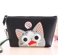 Wholesale Cute cute eyes large cosmetic bag women s waterproof with cosmetic storage bags