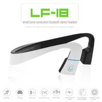 Wholesale 2016 newest LF Wireless Bluetooth Stereo Headset Waterproof Neck strap Headphone Bone Conduction NFC Hands free Earphone