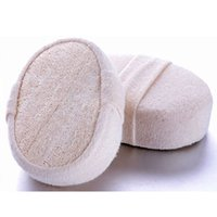 Wholesale Convenient PC Nice Sponge Spa Natural Loofah Luffa Shower Body Scrubber Exfoliator Pad