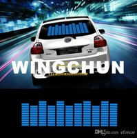 audio equalizers - Hot Sound Music Beat Activated Car Stickers Equalizer Glow Blue LED Light Audio Voice Rhythm Lamp