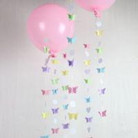 balloon pastel - Butterfly Garland In Pastels Wedding Shower Decoration Balloon Tail