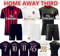 Wholesale 2016 AC Milan Soccer Sets Home Away Third MENEZ BACCA HONDA BERTOLACCI Coppa Italia Serie A Milan Jersey Kits Suit With Short Socks