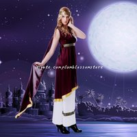 arabian clothing women - DHL New Halloween costumes women Cleopatra after the Indian Arabian girl belly dance costumes Greek goddess play clothing