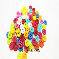 Wholesale 9mm mm sewing accessories multicolor resin buttons HOLES round RANDOM MIX COLORS for KIDS and diy accessories