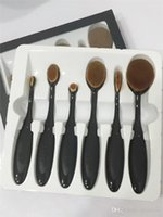 bb pc - 6 Set HOT Toothbrush Oval Makeup Brush Cosmetic Foundation BB Cream Powder Blush pieces set Makeup Tools Free DHL
