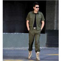 Wholesale new men s camouflage hunting suit jacket military fans live CS field training combat uniforms