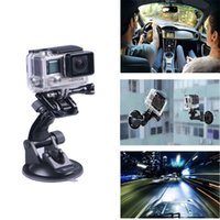 Wholesale GoPro Accessories Car windshield Suction Cup Mount Bracket For GoPro SJcam Action Cameras High Quality