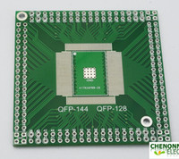 FR4   QFP EQFP TQFP LQFP144(128) To DIP,CPU Bare board,FPAG Adapter plate Free shipping 10 pieces lot high quality