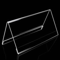 acrylic name card holder - 4pcs High Quality cm V Triangle Acrylic Name Card Label Holder Conference Seat Name Sign Display Stand Table