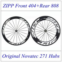 zipp - Front ZIPP Rear Zipp White Decals Carbon Fiber Road Bike Racing Wheels Clincher Tubular Bicycle C Wheelset With Novatec Hubs