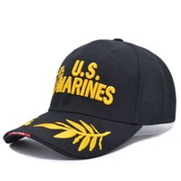 active marines - 2016 Tactical Marines Cap Mens Baseball Cap USA Army Black Water Hat Snapback Caps For Outdoor Adjustable Navy Seal Casquette