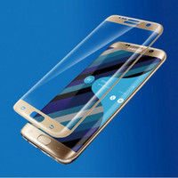 Wholesale Tempered Glass Screen Protectors For Samsung S7 S7 edge Curved Full Screen For Samsung Galaxy S7 EDGE G9350