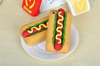 apple hot dogs - New arrival fashional Hot Dog Bread silicone back cover phone cases for Apple iphone S plus