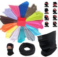 Wholesale Cycling Bandanas Mask Scarf Riding Mask Seamless Headwear Hip Hop Headscarf Outdoor Headband Sports Bandana Magic Collar Dance Caps B483