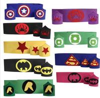 america wristband - Superhero Belt Cuff armband wristband waistband belt set Teen kids batman Captain America thor TMNT Flash costume Halloween party cosplay