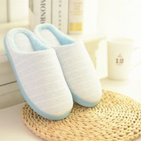 Wholesale Winter Men and Women Casual Slipper Warm Foot At Home Slippers Anti Slip Indoor Floor Man Soft Plush House Male Shoes