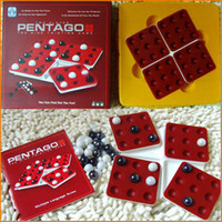 Wholesale 2 Players Night Bar Chess Pentago Board Game family party bar contest game chesses Hot in Europe good game