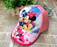 Wholesale 2016 New hot sale Mickey mouse and Sophia Summer sun hats children girls lovely ball caps girls cartoon Adjustable fashion hats