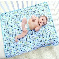bamboo mattress cover - Big Size Reusable Cartoon Baby Infant Bamboo Fiber Waterproof Urine Mat Cover Diapering Changing Pads Baby Waterproof Mattress