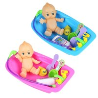 bath set collection - 2016 New Arrival Simulated Infant Early Educational Play Set Doll Collection Handmade Alive Silicone Reborn Baby Bath Bathtub