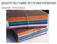 Wholesale Color Mixed MM Polyester Nonwoven Felt Fabric x15cm quot x5 quot The Felt Cloth MM
