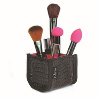 Wholesale Makeup Brushes Holder Cosmetic Beauty Case Storage Organizer Make Up PU Leather for Professional Home High Quality