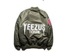Wholesale KANYE WEST YEEZUS Jacket MA1 Bomber Jacket MEN Kanye Jackets Hip Hop Pilot Windbreak Kanye West Jacket Men Spring
