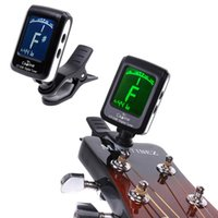 Wholesale Mini Clip on Clip on LCD Display Guitar Tuner Backlight Degree Rotatable Clip for Guitar Chromatic Bass Violin and Ukulele