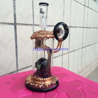 Wholesale new glass bong quot inches copper plating water pipe Black head prec oil rigs mm joint dome and nail