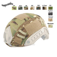 Wholesale Outdoor Sports Equipment Airsoft Paintball Shooting Gear Tactical Helmet Accessory Muti Colors Camouflage Fast Helmet Cover