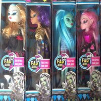 action cushion - 4 boxes Monster Toys Dolls High Quality Toy Gift for girls Classic Toys Anime Hot Selling Action Figure for monster high