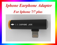 Wholesale High Quality iPhone Earphone Adapter for iPhone iPhone plus Data Cable Adapter Cords I7 i7 plus Cell Phone earphone Adapter