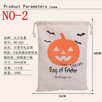 Wholesale hot style DHL Free Large Canvas Monogrammable Santa Claus Drawstring Bag With Reindeers Monogramable Halloween Gifts Sack Bags