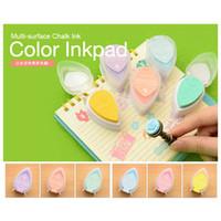Wholesale Top Grade Cute Drop Mini Ink Pad Sponge Stamp Pad Water Color Pigment Inkpad for DIY