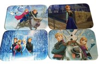 Wholesale Frozen mat Bathroom Coral velvet mats super absorbent doormat snow carpet Romance cartoon non slip mat WA0640